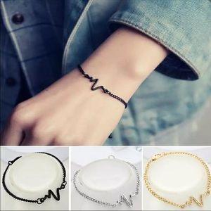 Jewelry - Stainless Steel Heartbeat Bracelet